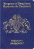 Passport cover of Swaziland
