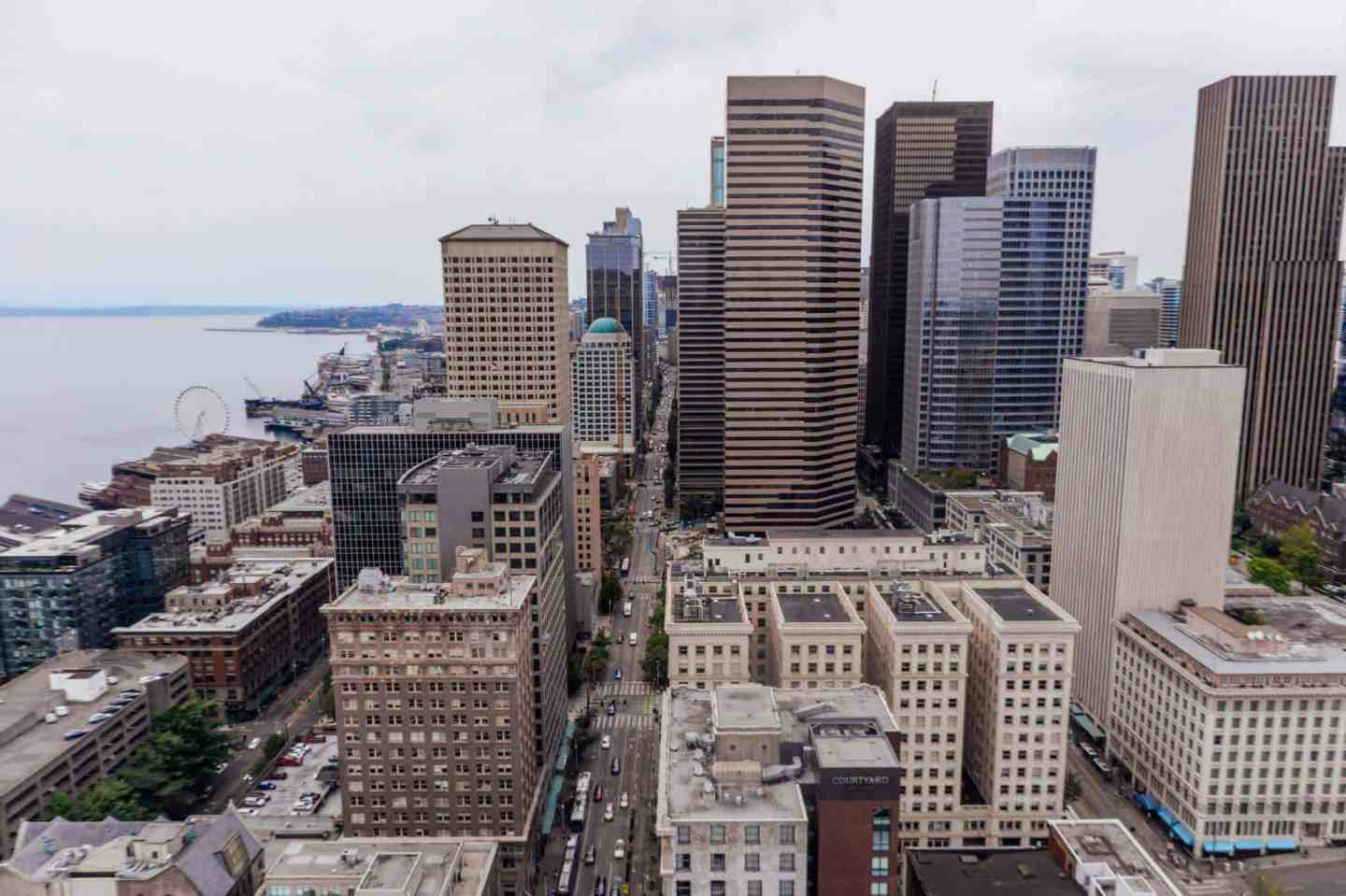 Seattle skyscrapers from smith tower
