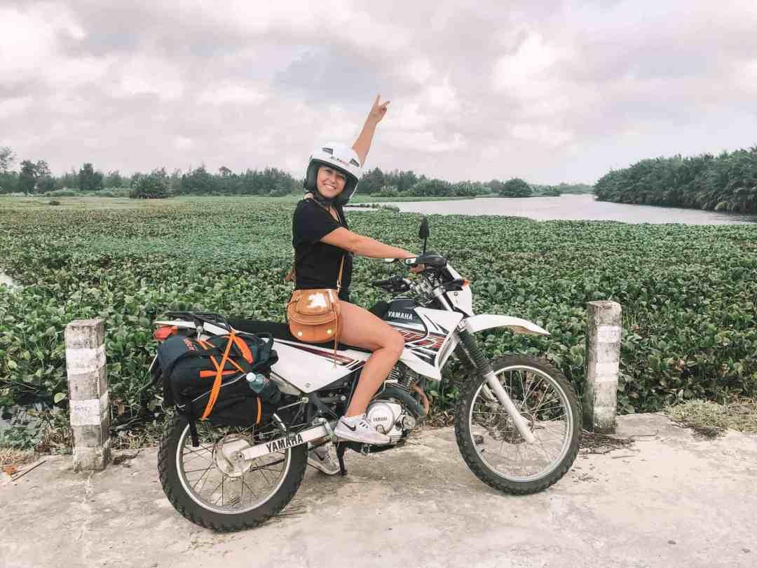 On motorbike to Hue