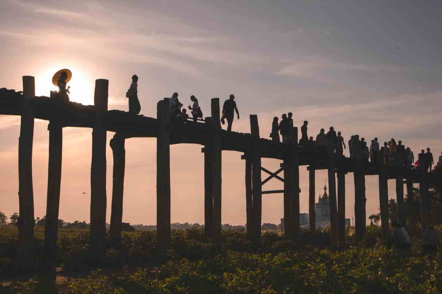 U Bein Bridge - Mandalay