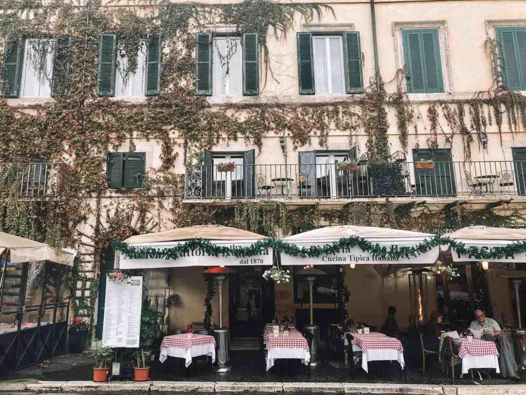 Facade in Rome, Italy