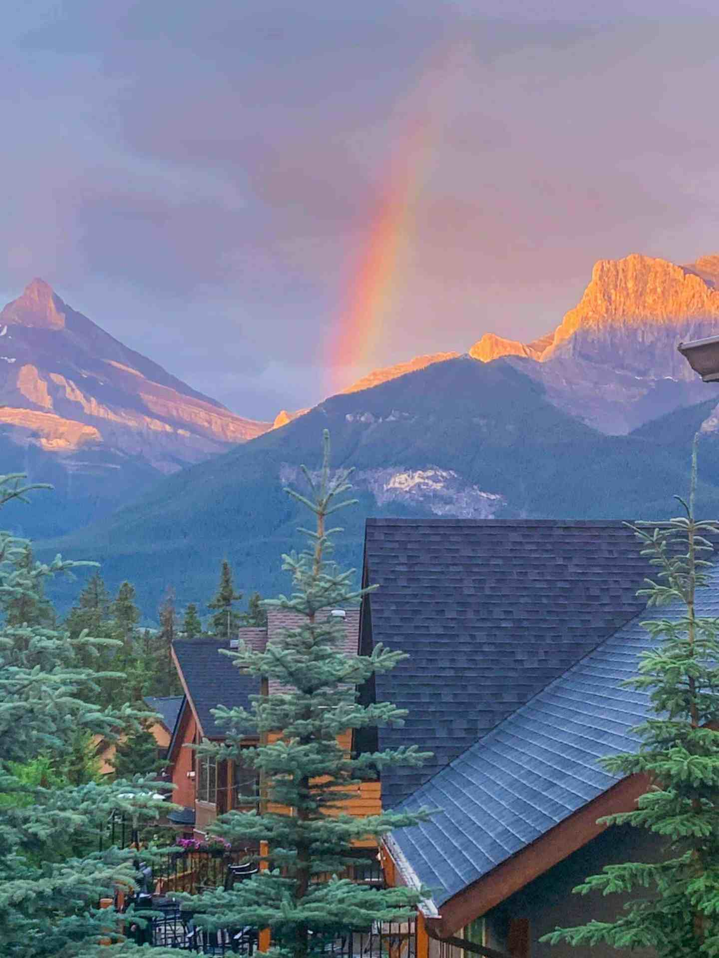 rainbow over the rocky moutains