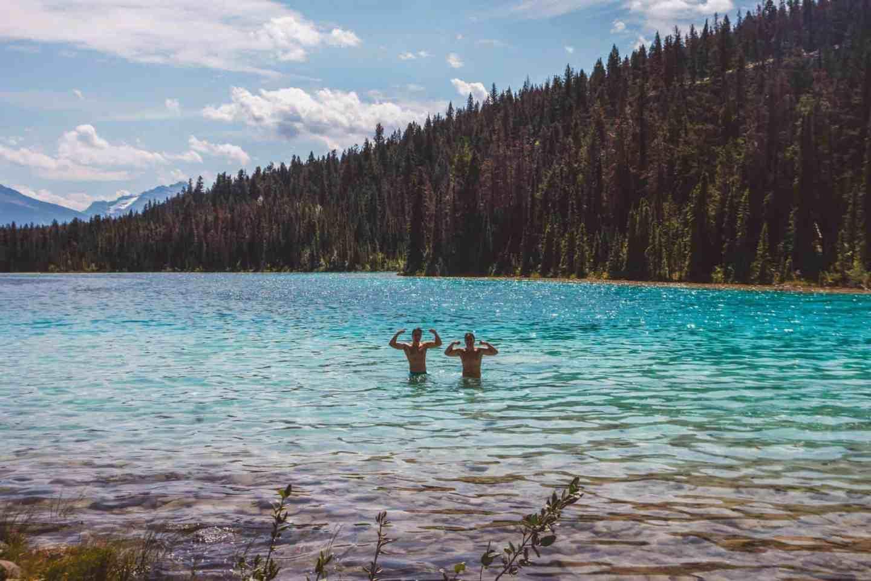 swimming in natural lake