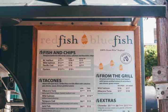 red fish blue fish menu