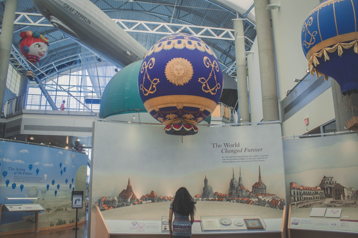 Looking at the Balloon Museum exhibits during my one day in Albuquerque