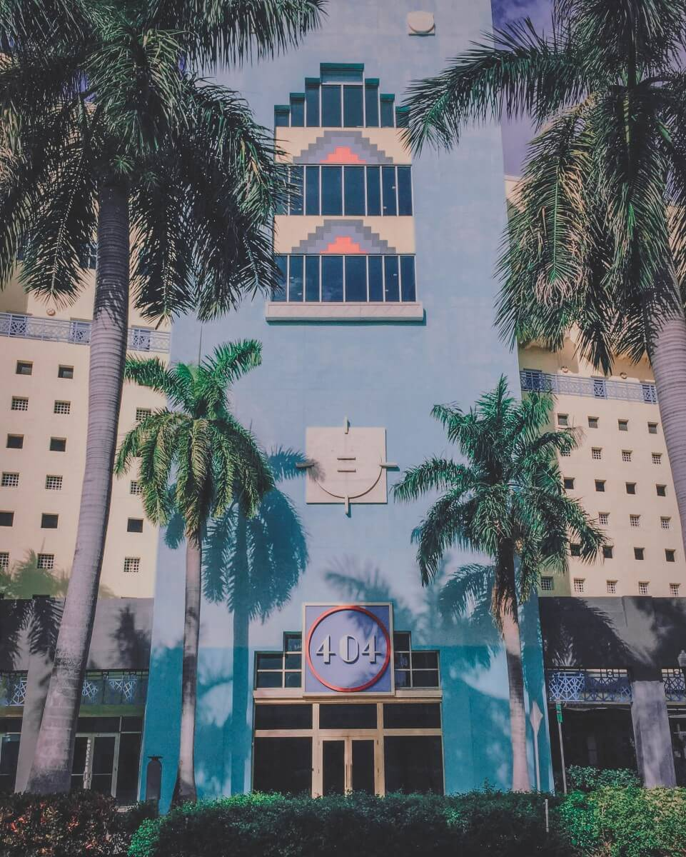 Art deco building - one of the iconic building styles in Florida