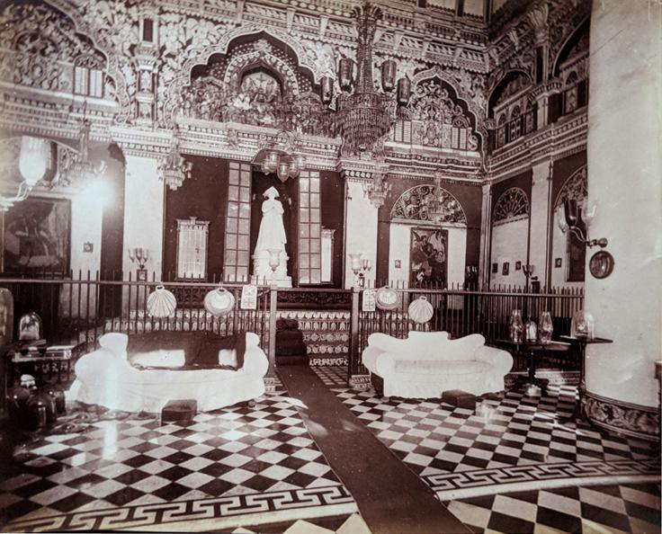 Antique Photo Tanjore Palace Interior 1890