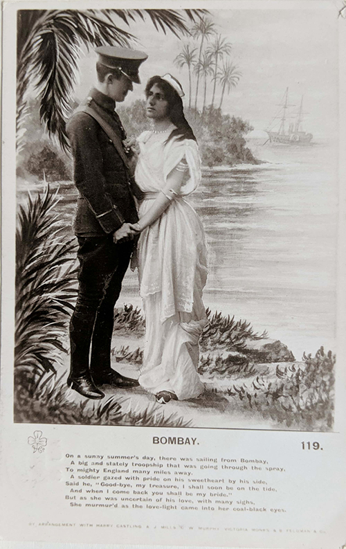 Vintage Postcard Ode To Bombay Soldier's Lover