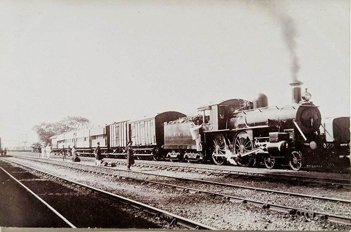 Antique Photo Prince Wilhelm Tour of India Special Train
