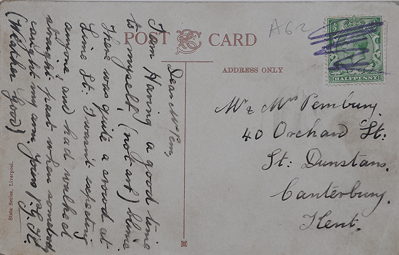 Rare Vintage 1912 Postcard Of The Titanic