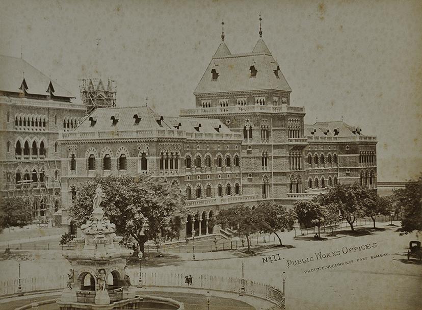 Public Works Office Building Mumbai 1872 Old Photo