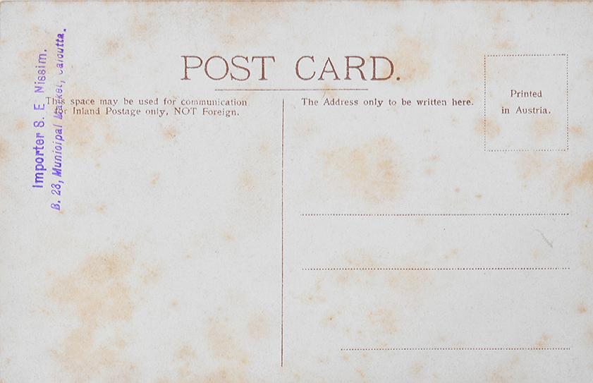 Steam Tram of Calcutta - Rare Postcard 1900