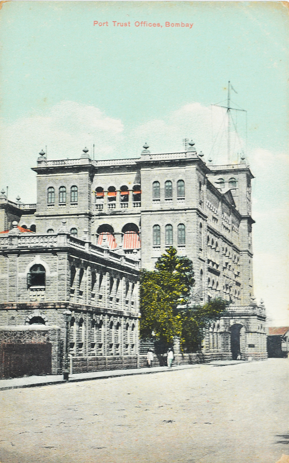 Port Trust Offices Bombay - Old Postcard 1905
