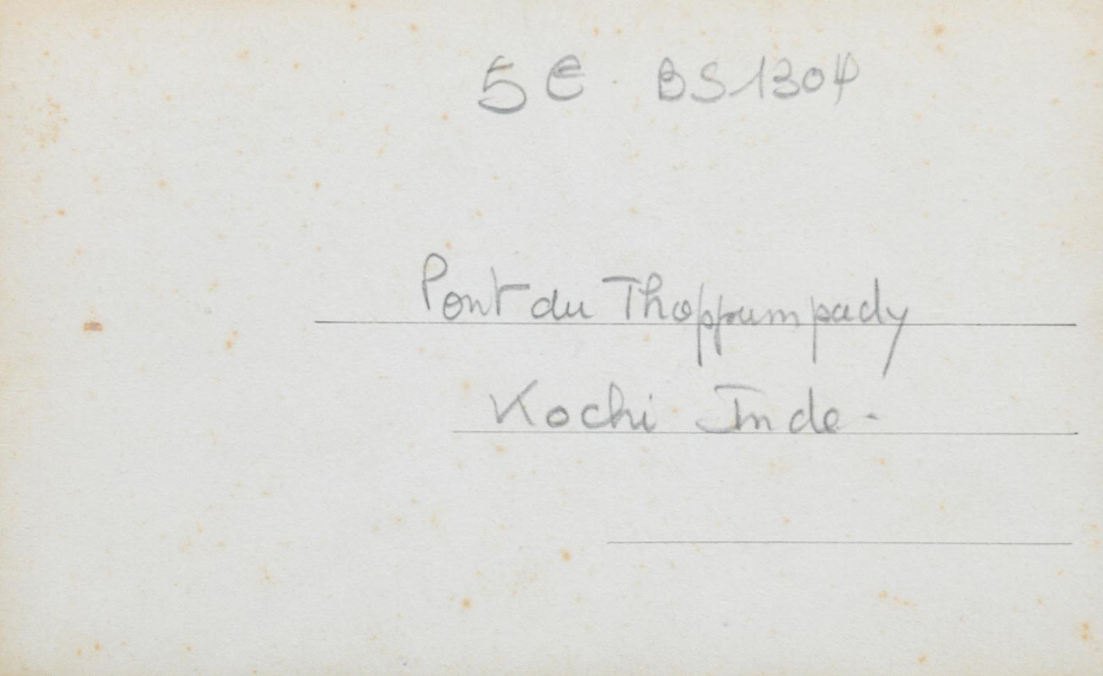 Mattancherry & Venduruthy Bridges Kochi - 2 Old Postcards