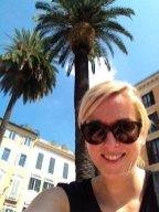 Chillend onder de palmpjes bij de Spaanse Trappen