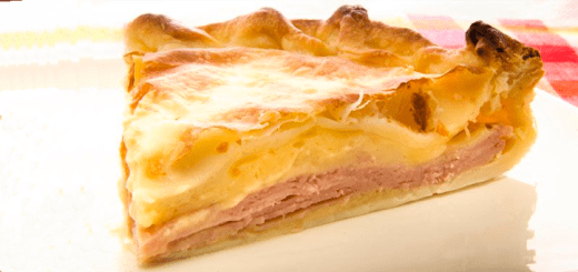 Tarta de Cebolla, Jamón y Queso