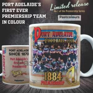 1884 Port Adelaide's First Ever Premiership Mug - The Magenta's