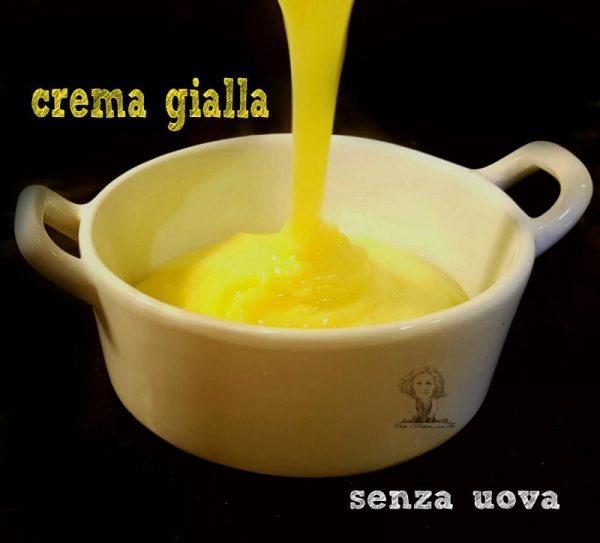 crema gialla senza uova