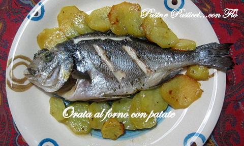 orata al forno con patate1
