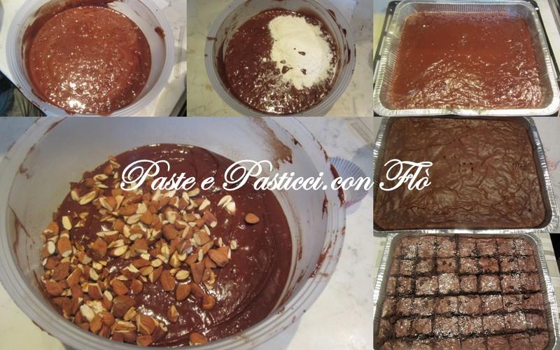 brownies con mandorle