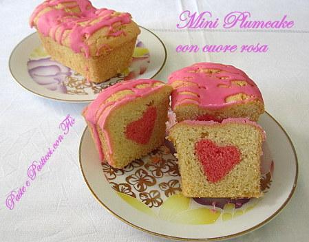 mini plumcake con cuore rosa1
