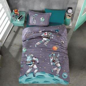 kinder-bettwaesche-135x200-cm-3-teilig-astronaut-100-baumwolle-mit-reissverschluss-space