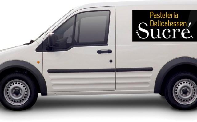 furgoneta de reparto de sucré