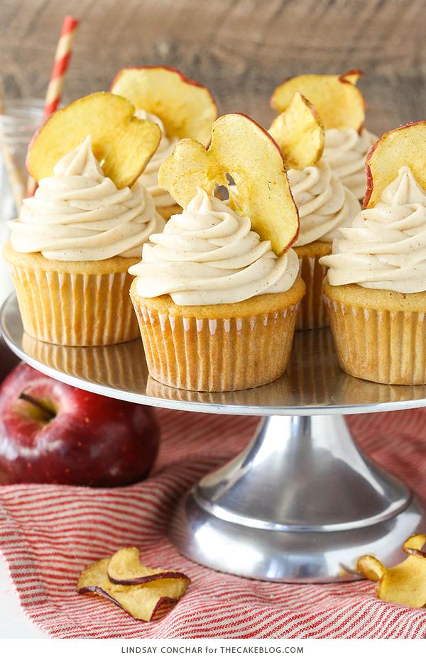 cupcakes de mantequilla de manzana