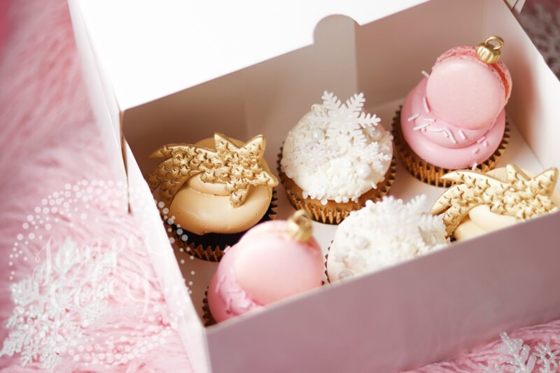 Elegantes Cupcakes de Navidad