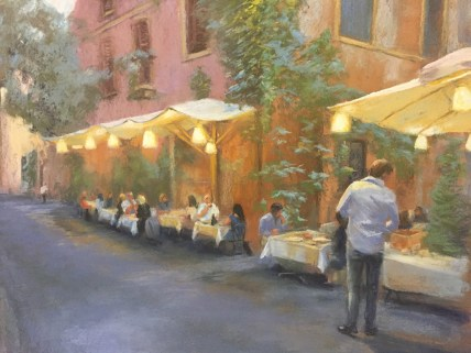 Julie Cubbage - Dinner in Verona - Pastel