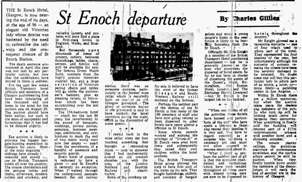 Glasgow Herald, Augist 12th 1974