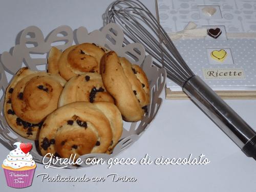 Girelle con gocce di cioccolato
