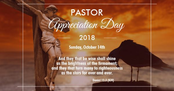 Pastor Appreciation Day 2018