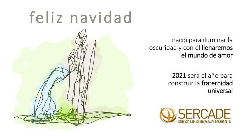 Feliz Navidad. Vicaría Desarrollo Humano Integral e Innovación. Pastoral Social. Madrid. SERCADE.