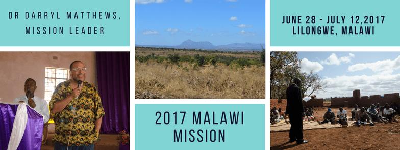 2017 Malawi Mission Banner