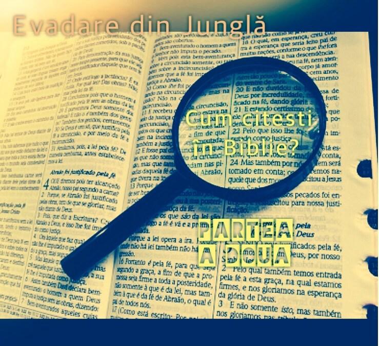 Cum citești în Scriptură?