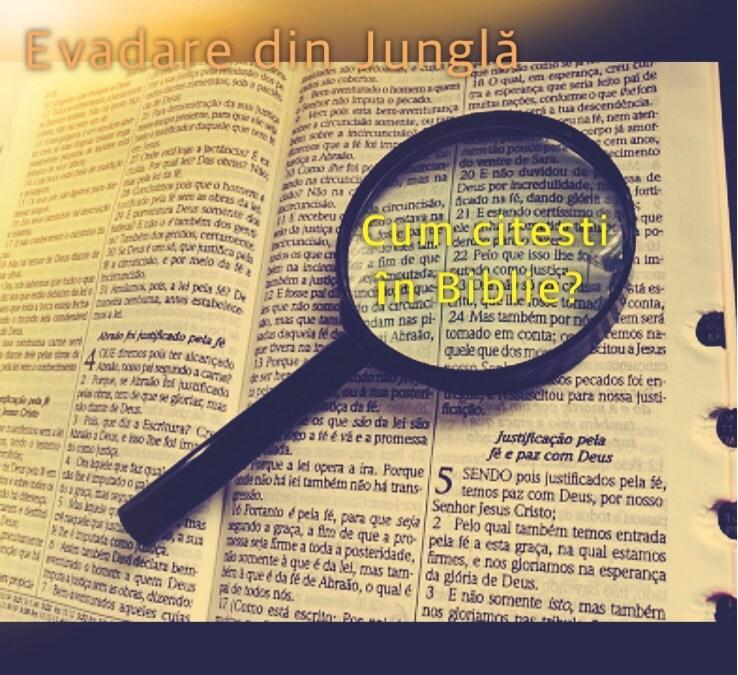 Cum citești în Biblie?