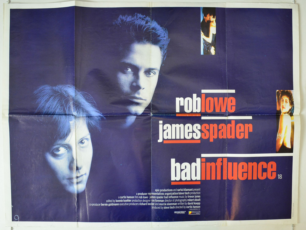 Image result for Bad Influence poster