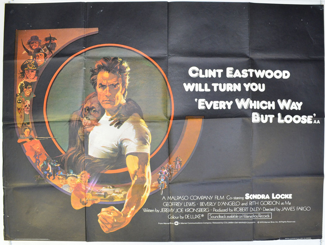 Image result for every which way but loose poster