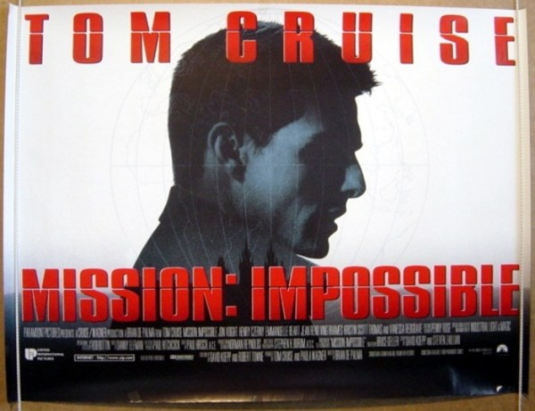 Mission Impossible Original Cinema Movie Poster From