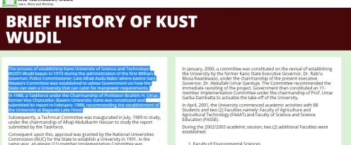 KUST Post UTME Past Questions and Answers