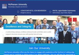 Mcpherson University Post UTME Past Questions and Answers
