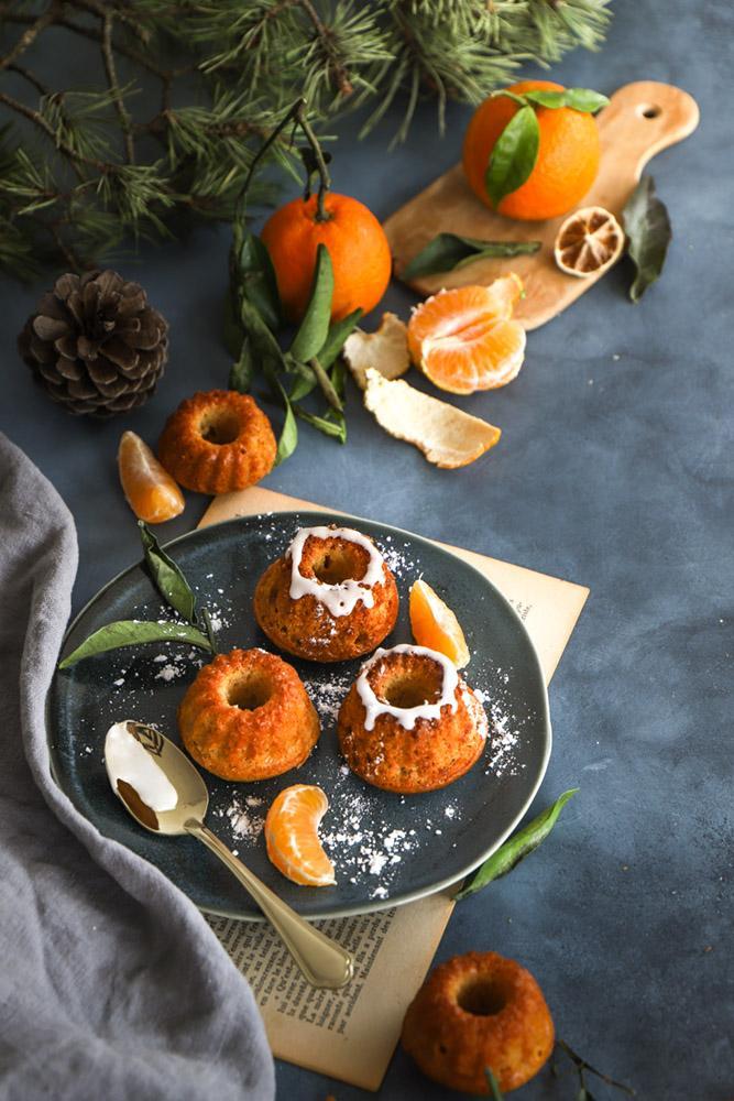 mini cakes clementines vegan
