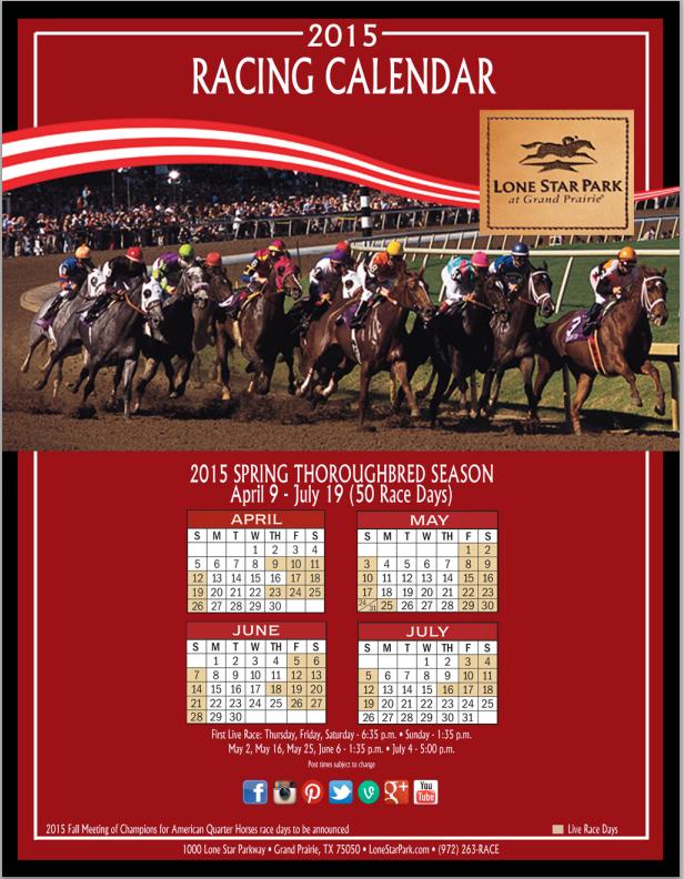 Lone Star Park Racing Calendar