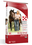 Equine Senior Horse Feed at Pasturas Los Alazanes in Dallas, Texas.