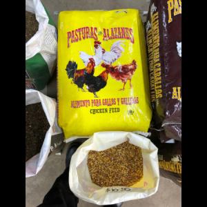 pasturas chicken feed | alimento para gallos