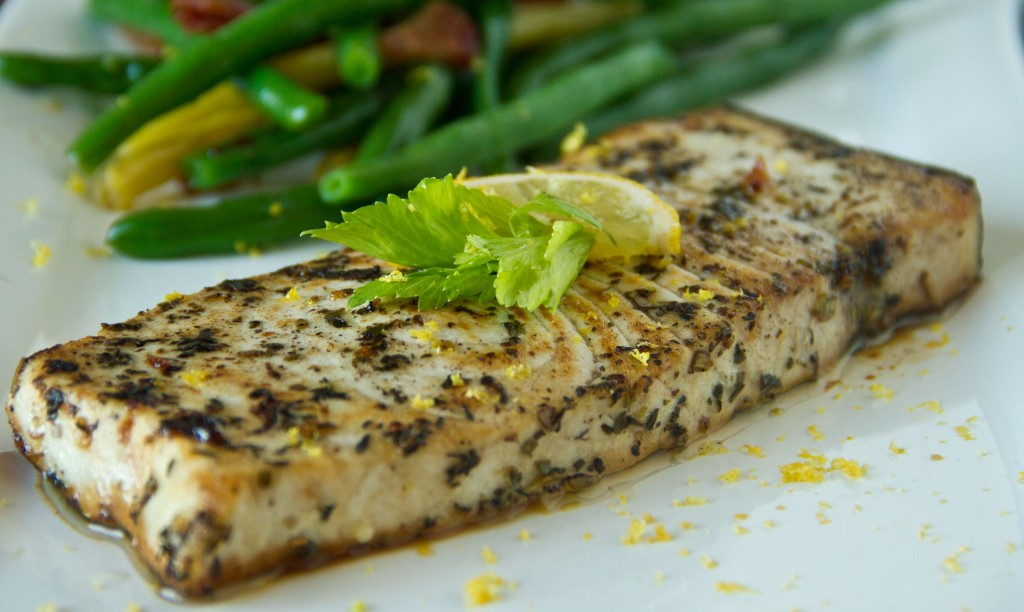 Pan roasted swordfish steaks for Sword fish recipes