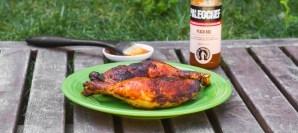 Peach BBQ Chicken Legs