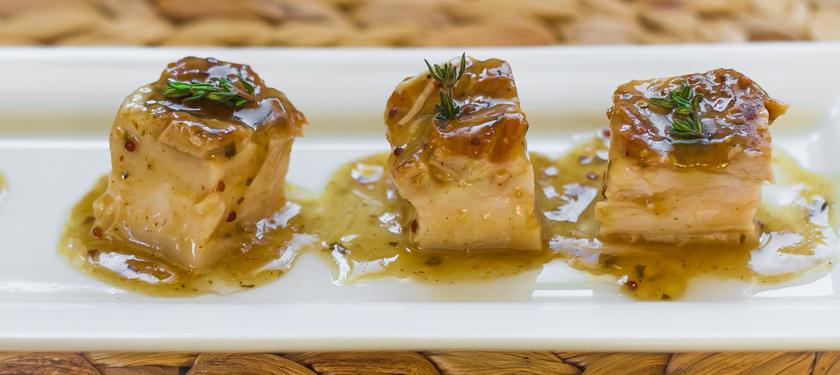 Maple Mustard and Cider Braised Pork Belly