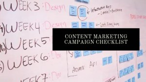 content marketing campaign checklist
